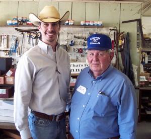 Luke Mobley and Buck Compton at Compton Charolais Sale 2010
