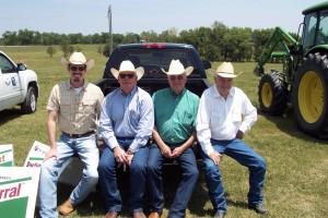 Luke Mobley, TOm Johnson, Don Green and E.C. Larkin at DCJ Ranch Field Day 2010