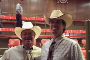 Luke Mobley & Johnny Davis at a sale in Cullman, AL