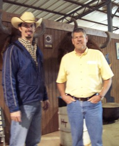 Luke Mobley & Bill Lundburg at Santa Gertrudis Sale in Alabama