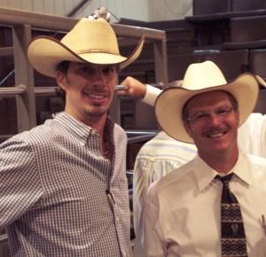 Luke Mobley & Greg Clifton at a Simmental Sale in Calhoun, GA