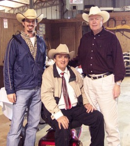 Luke Mobley, Hoover Case and Delmo Payne at Santa Gertrudis Sale in Alabama
