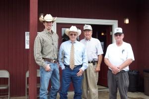 Luke Mobley, Jarvene Shackelford, Bill Shelby and Bobby Lynn at Lynn Angus Sale in TN