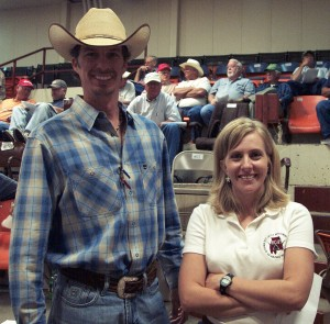Luke Mobley and Michelle Elmore at a BCIA Sale in Uniontown, AL