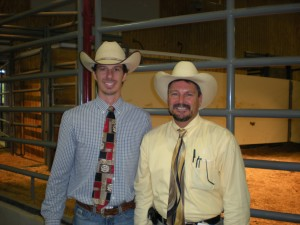 Luke Mobley & Mike Green at a Beefmaster Sale