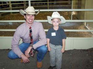 Luke Mobley and partner Wheller Allen at Macedon Angus Sale