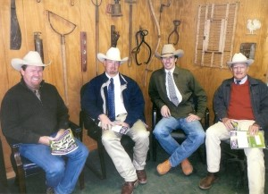 Steve, Ron, Luke and Shirley at Gibbs Farms Simmental Sale