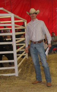Luke Mobley @ Sunshine Farms Simmental and SimAngus Sale