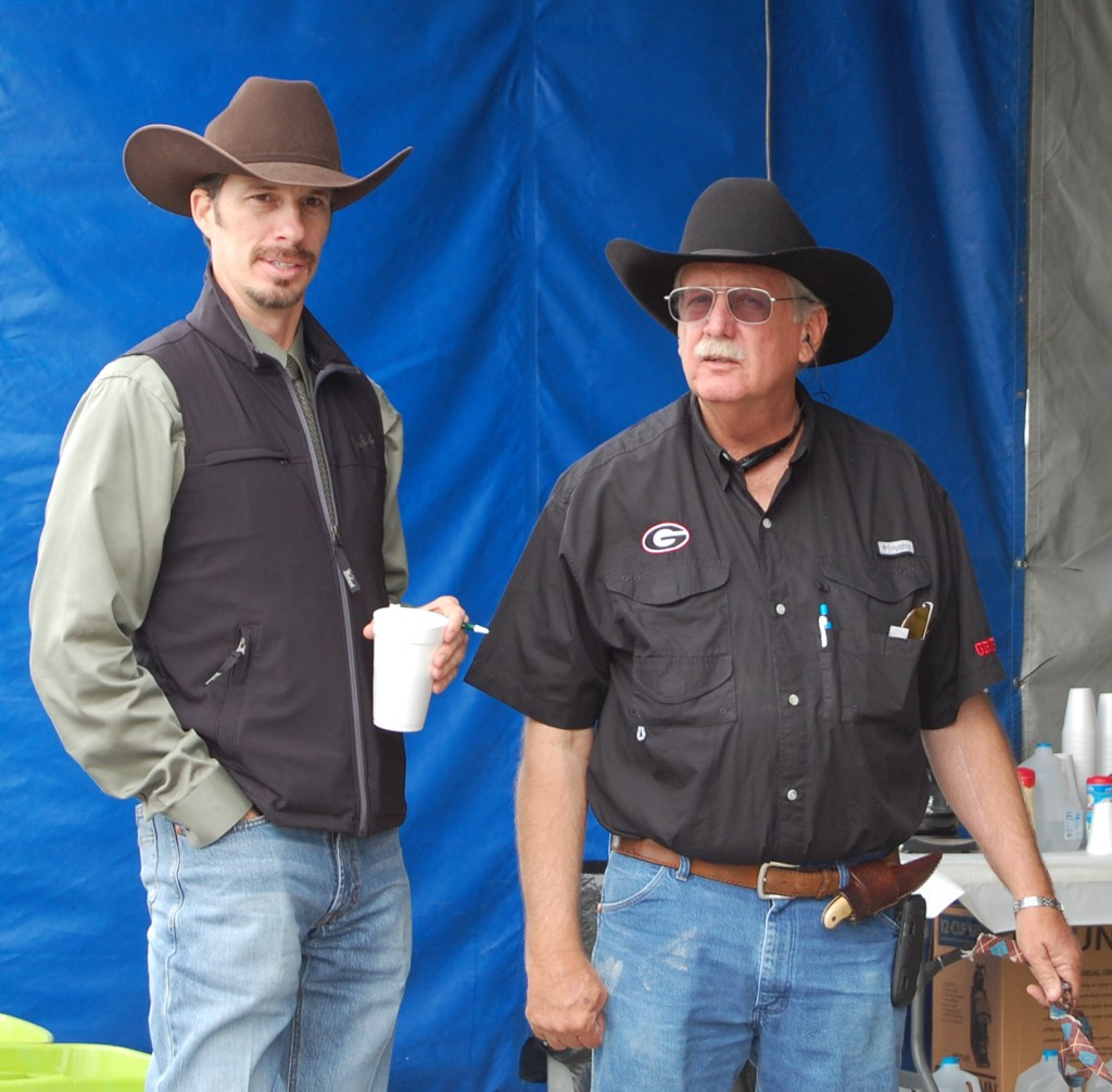 Luke Mobley and John Mosley at Frank Turner & Sons Angus Sale 2013