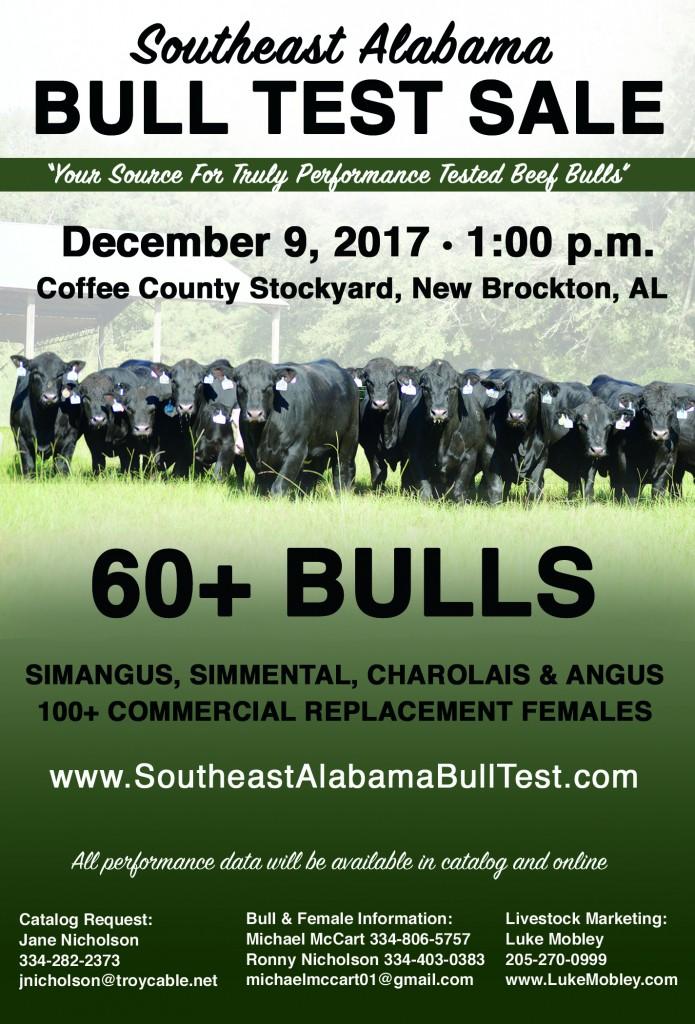 Southeast Alabama Bull Test Sale 2017